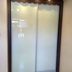 Clear White Glass Sliding Wardrobes